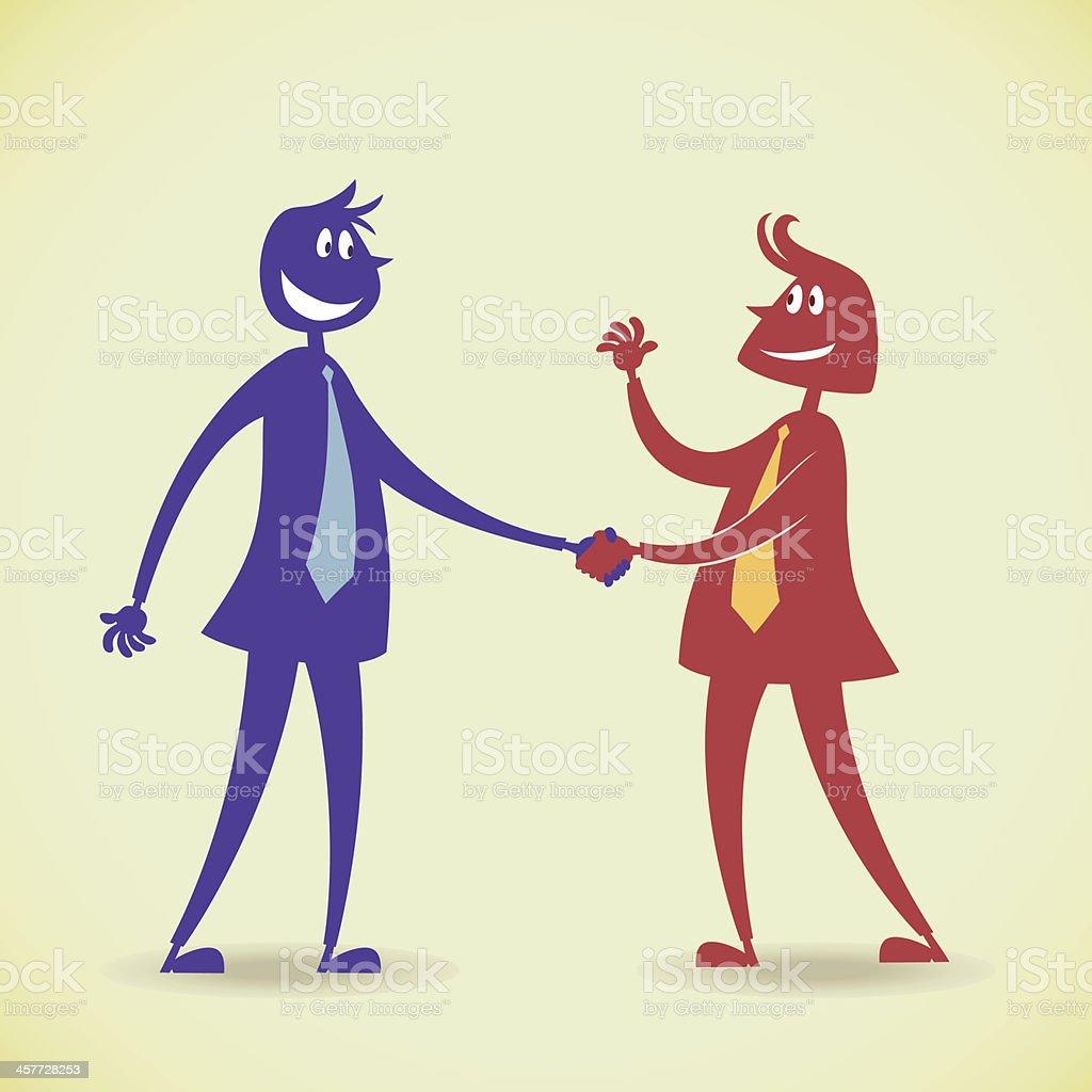 Shaking hands vector art illustration