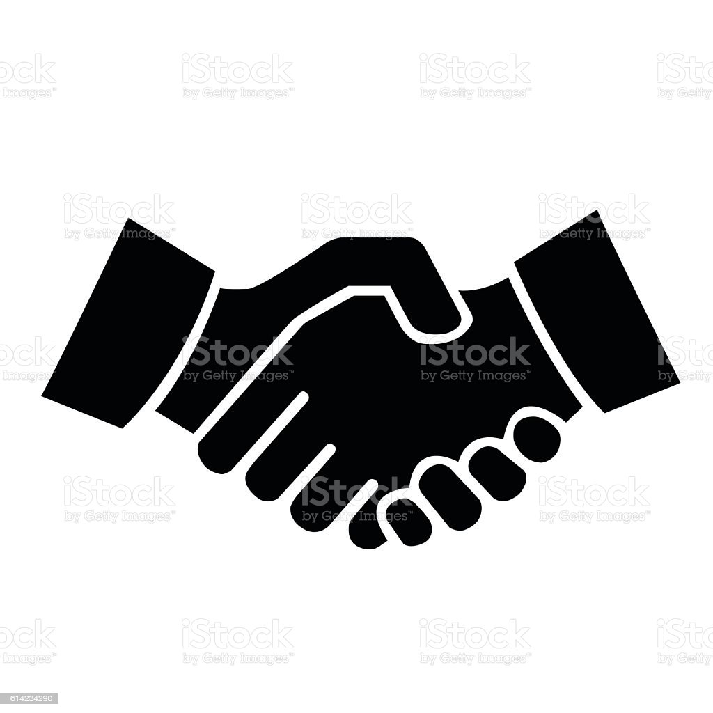 shaking hands vector art illustration
