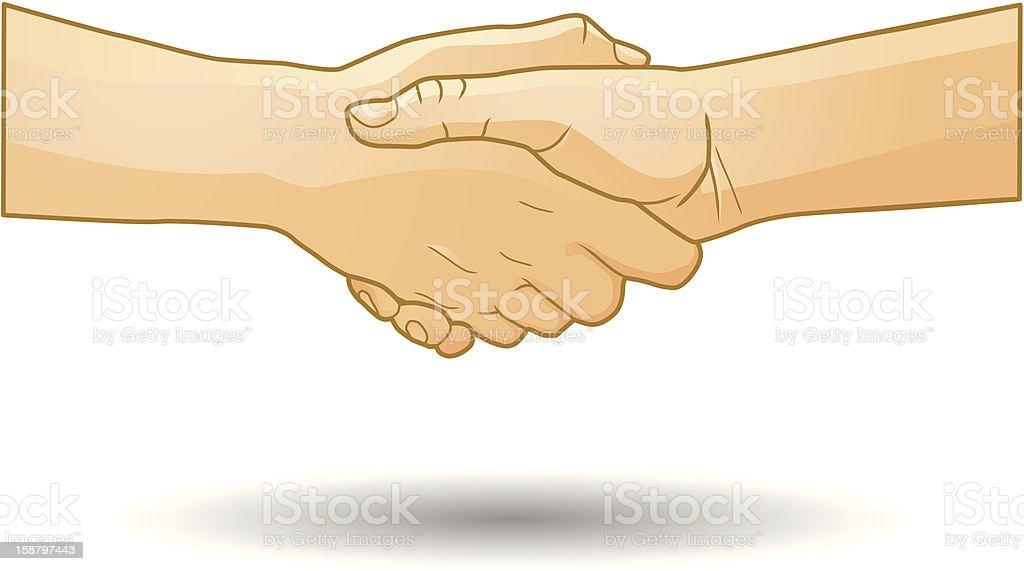 Shaking Hands Vector royalty-free stock vector art