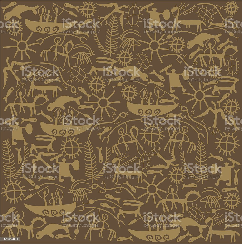 Shaman brown background royalty-free stock vector art