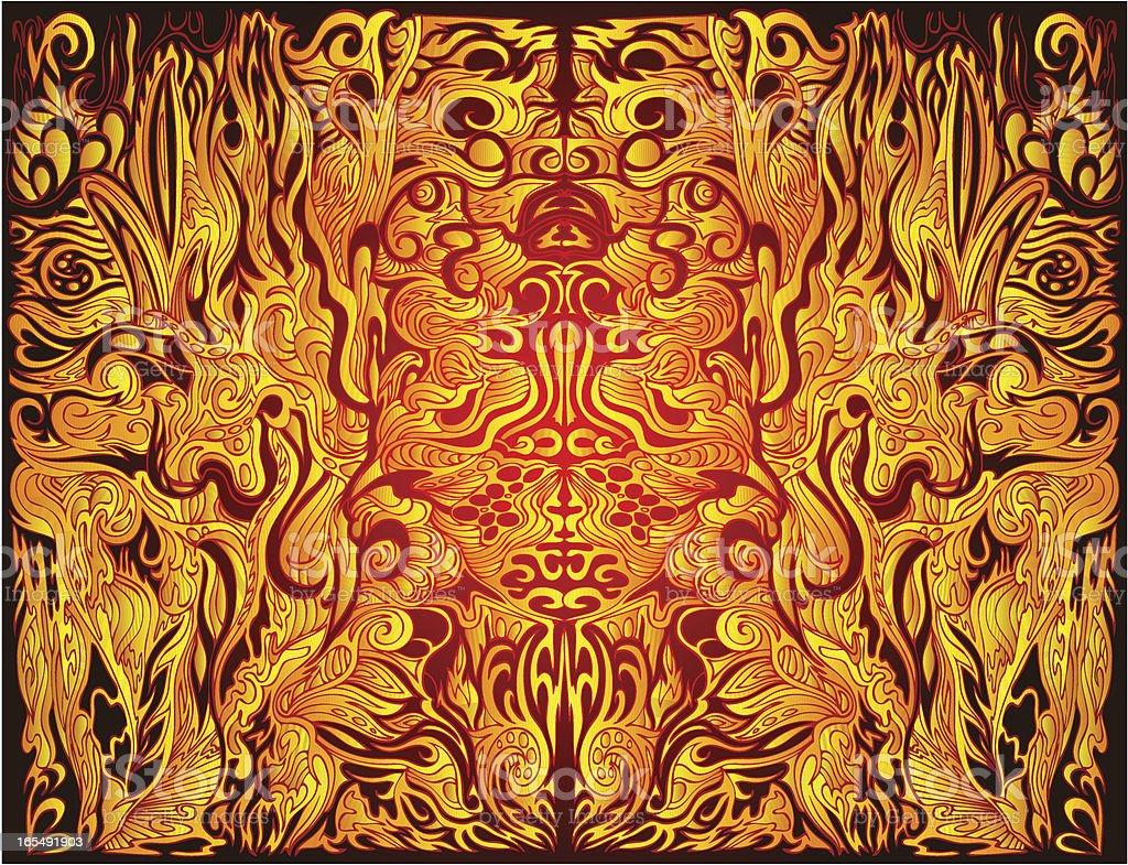 Schamane trance Lizenzfreies vektor illustration