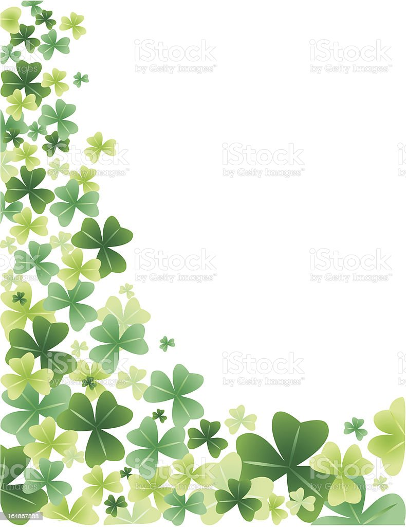 Shamrock background with room for text royalty-free stock vector art