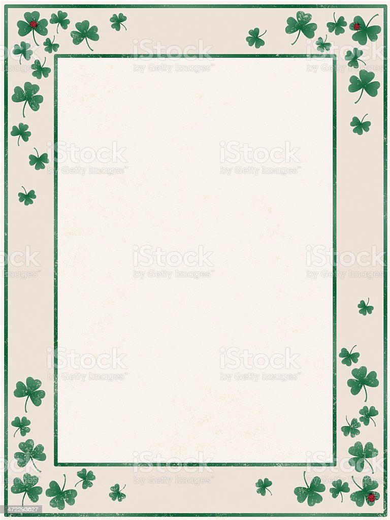 shamrock border royalty-free stock vector art
