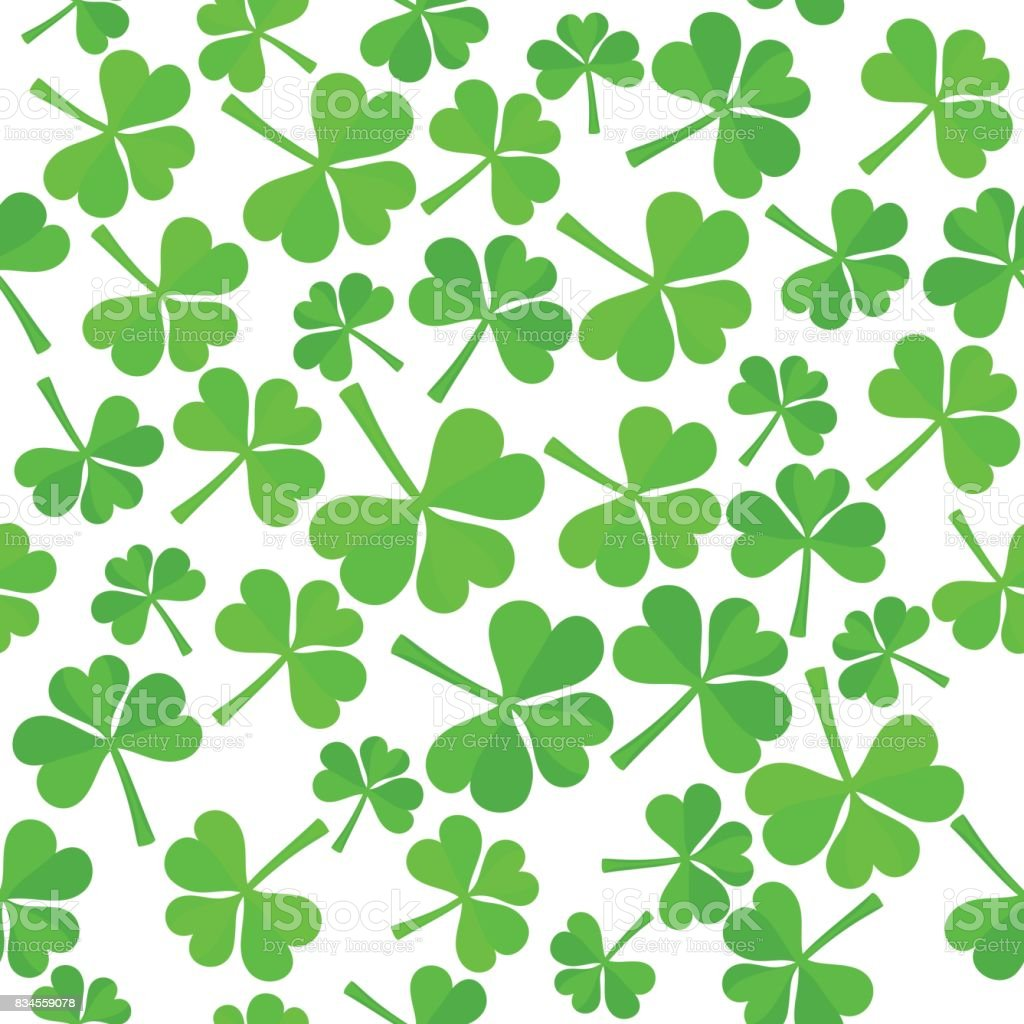 Shamrock Leaves Pattern vector art illustration