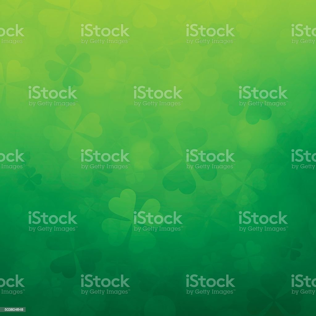 Shamrock St. Patrick's Day Background vector art illustration