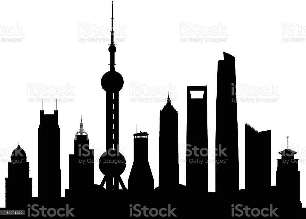Shanghai (Buildings Are Complete and Moveable) vector art illustration