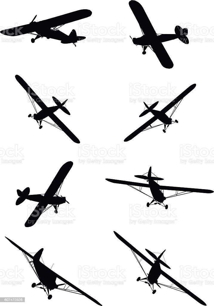 Shape of small plane vector art illustration