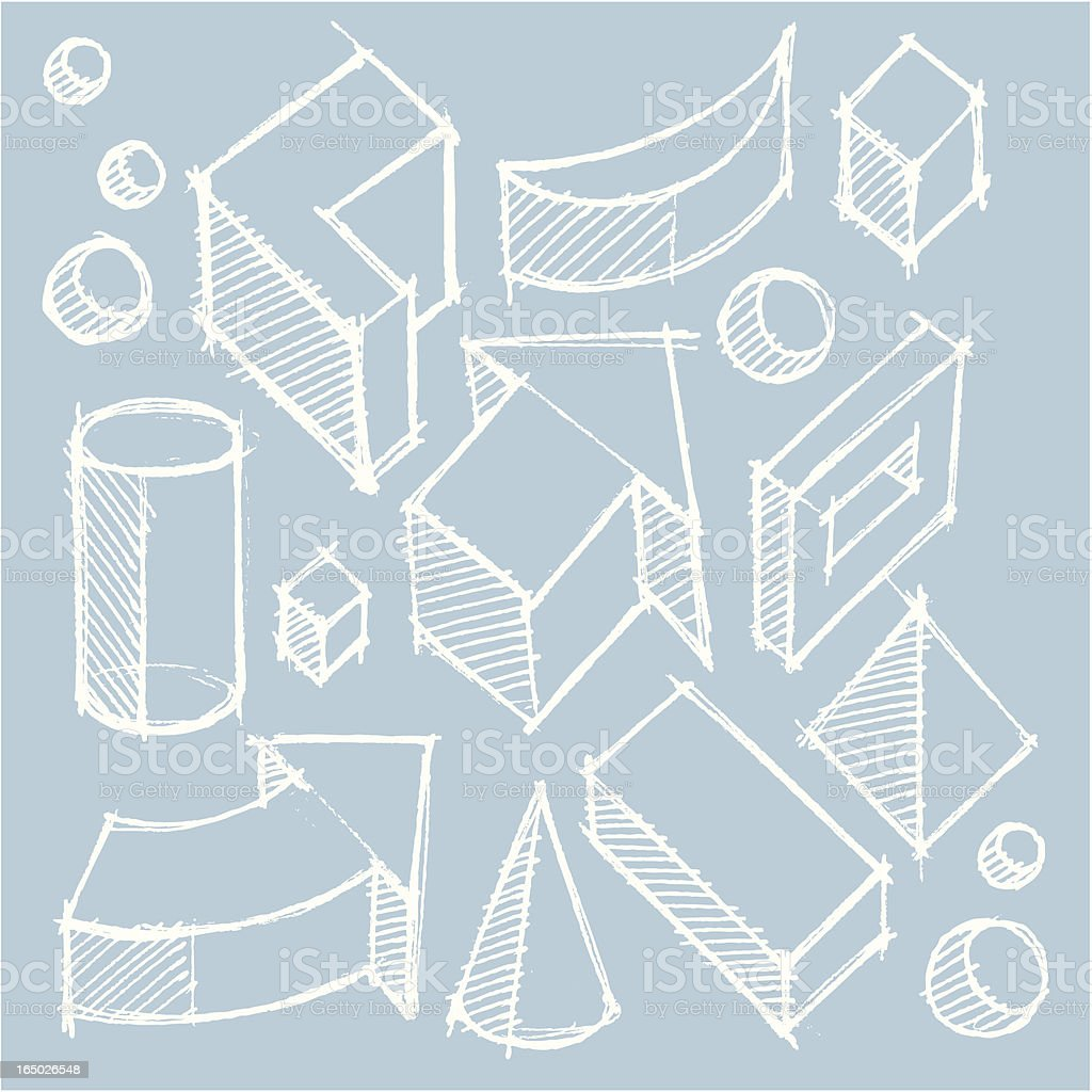 shape sketch royalty-free stock vector art