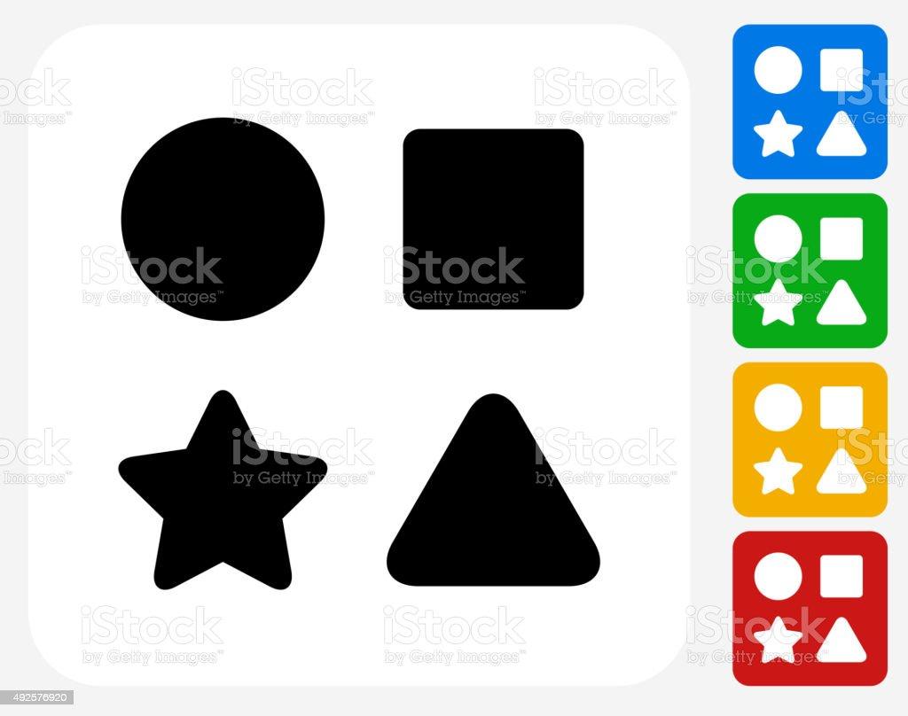 Shape Toys Icon Flat Graphic Design vector art illustration