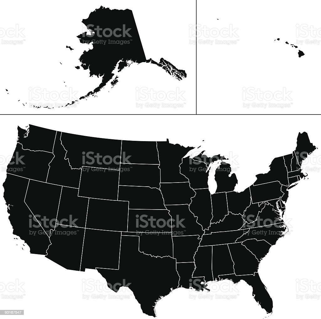 USA shape. royalty-free stock vector art