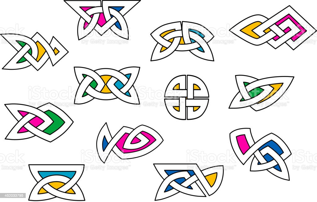 Shapes and elements in celtic ornament style royalty-free stock vector art