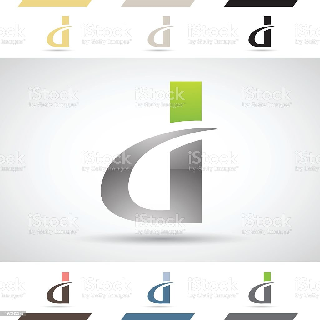 Shapes and Icons of Letter D vector art illustration