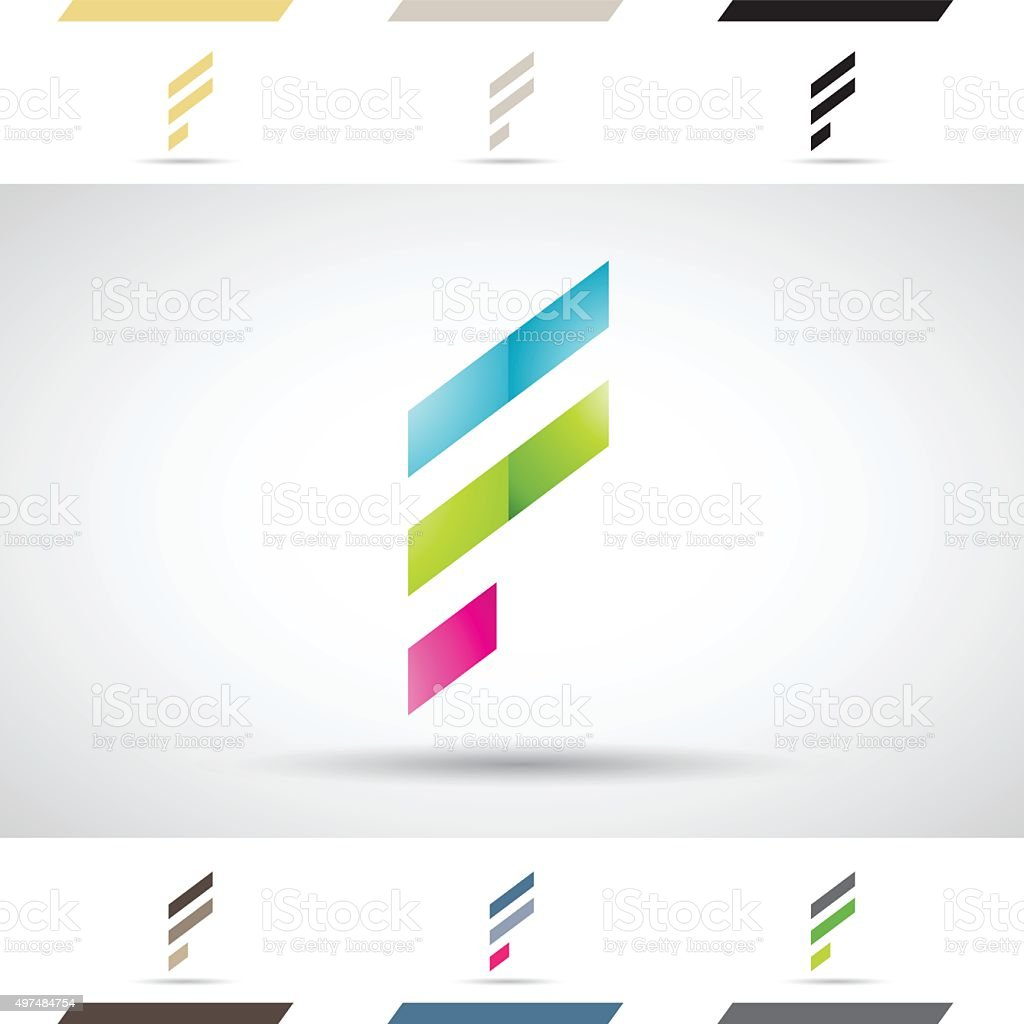 Shapes and Icons of Letter F vector art illustration