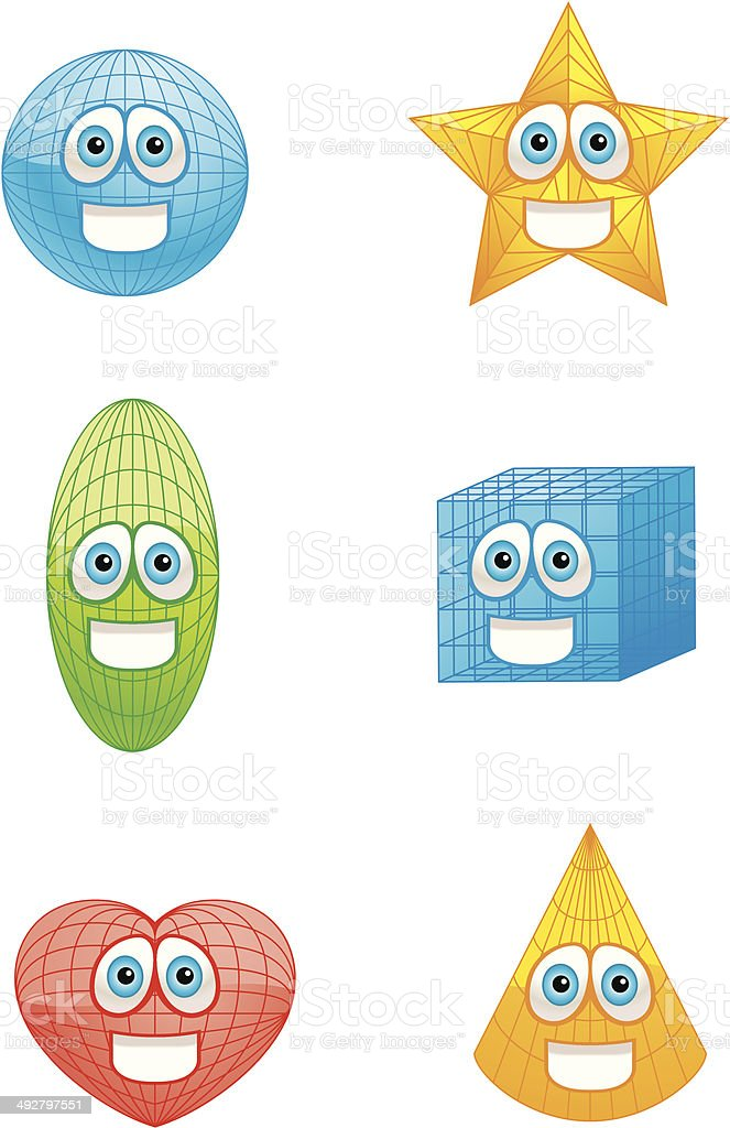 Shapes Smiling royalty-free stock vector art