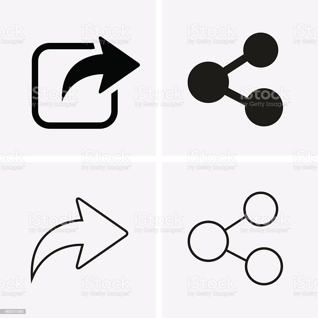 Share Icons vector art illustration