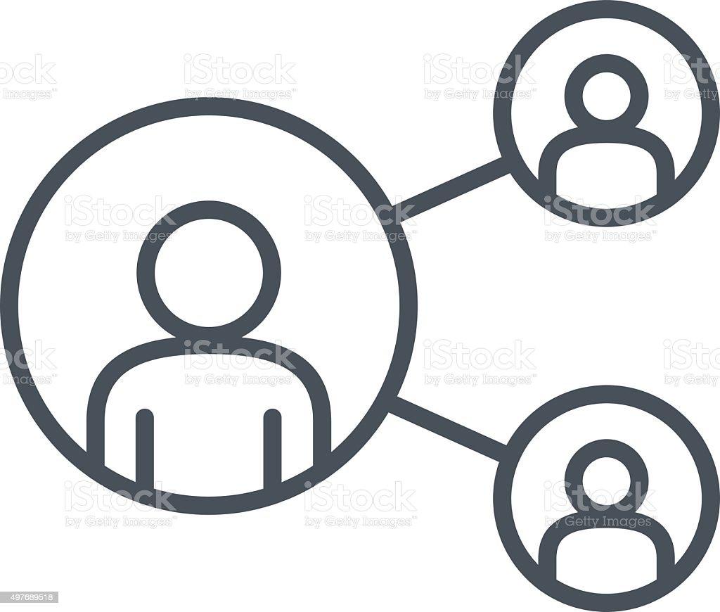 Share, network icon vector art illustration