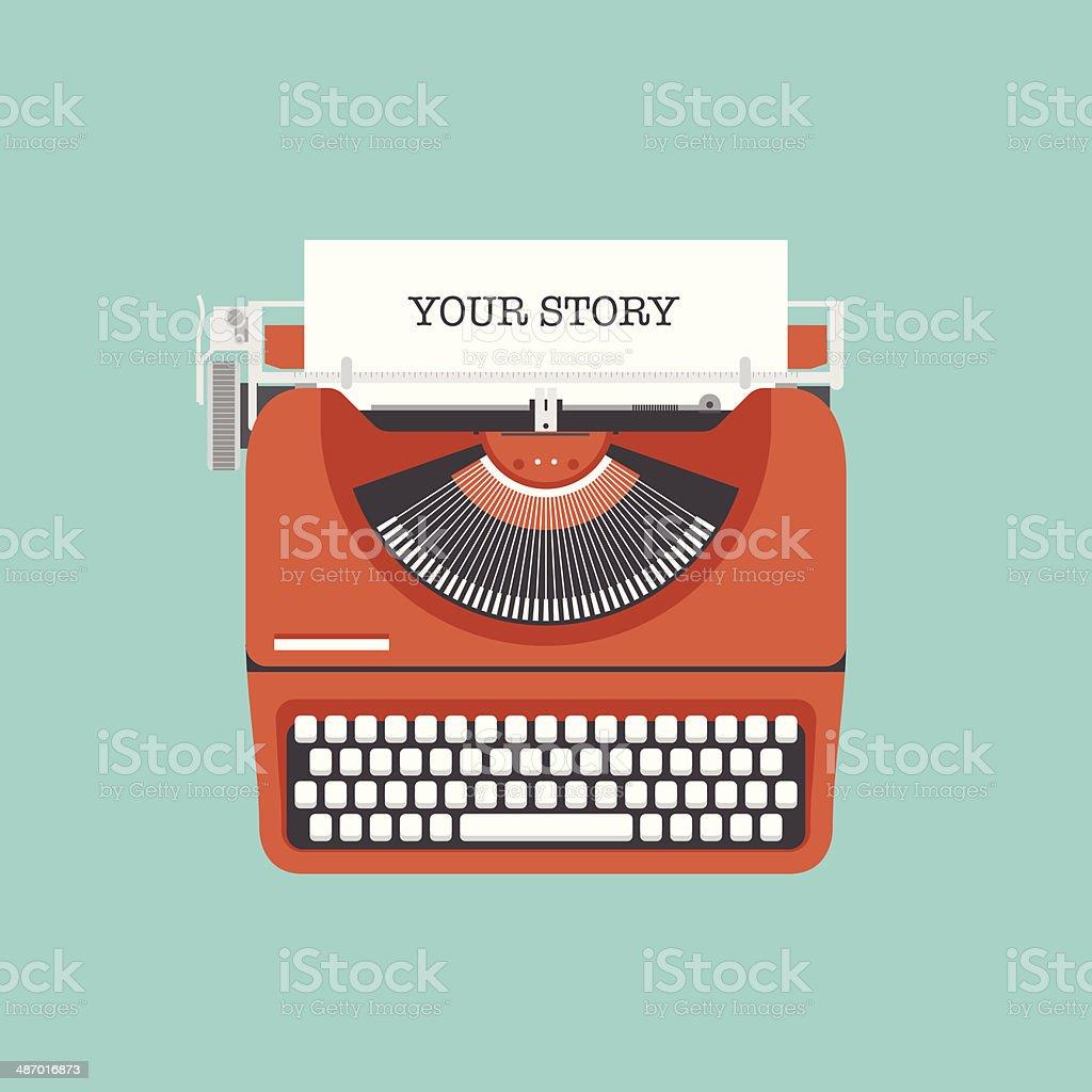 Share your story flat illustration vector art illustration