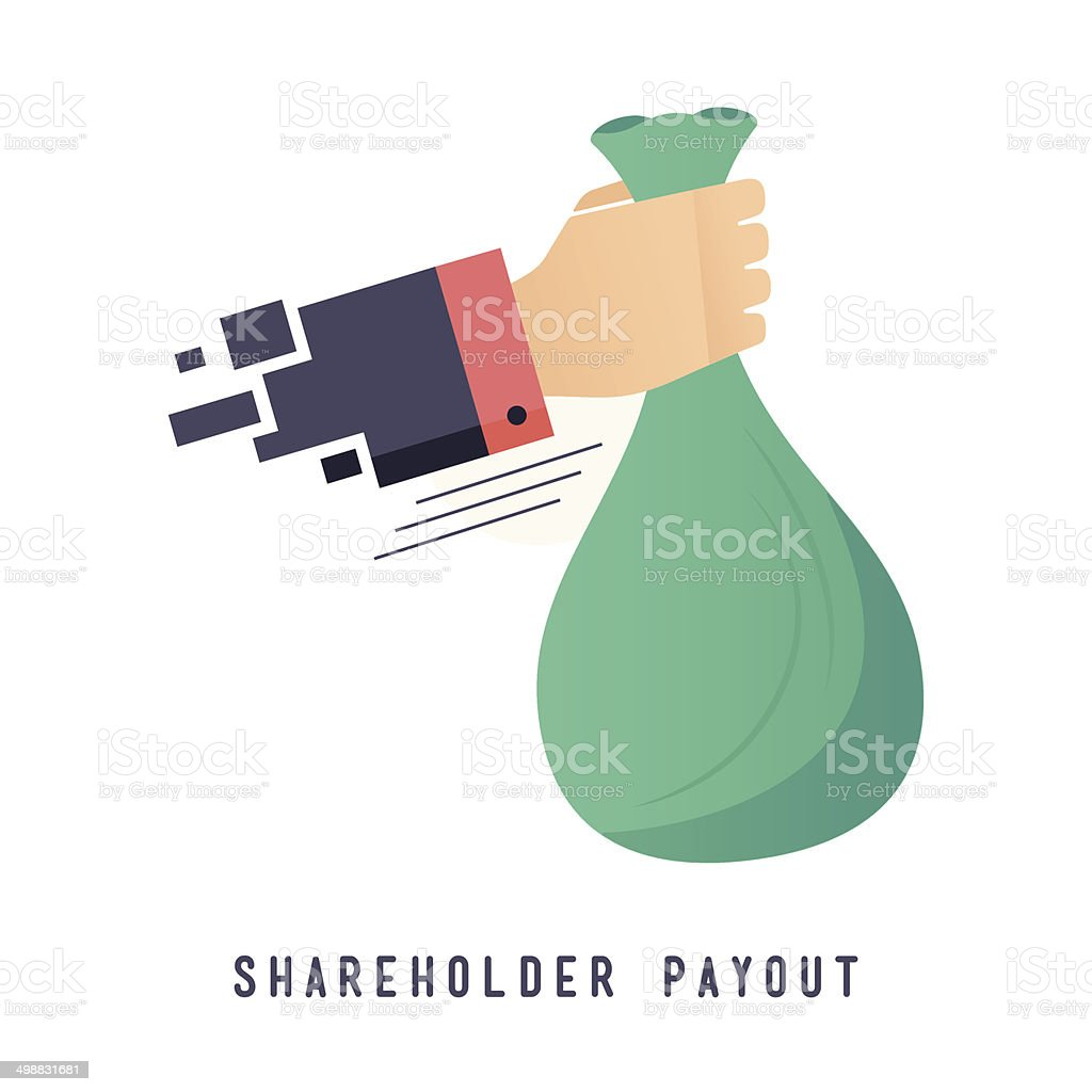 Shareholder Payout vector art illustration