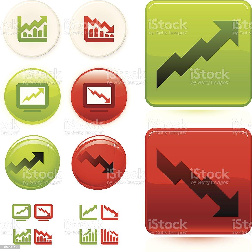 Sharemarket/investment icons vector art illustration