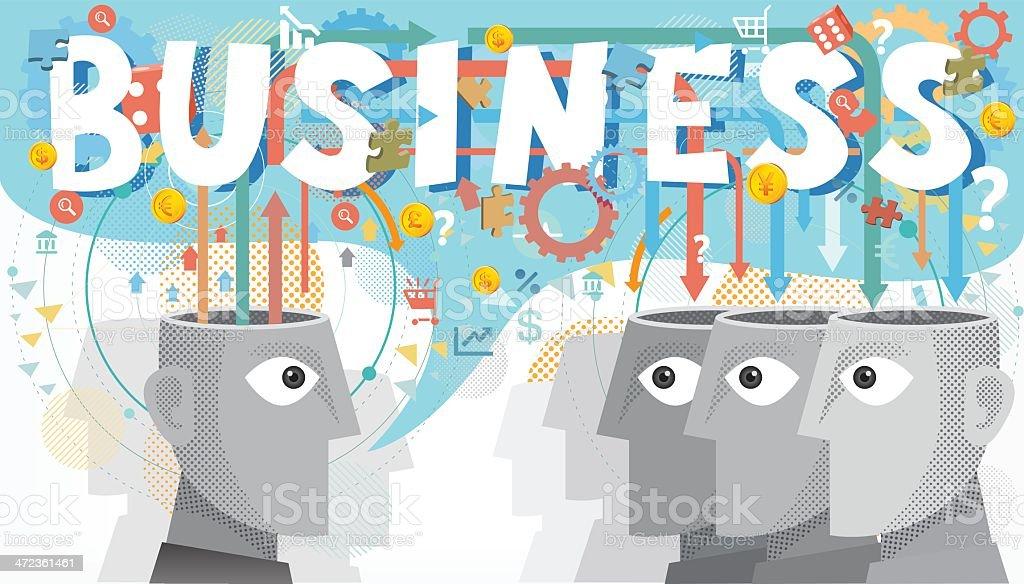 Sharing Business idea royalty-free stock vector art