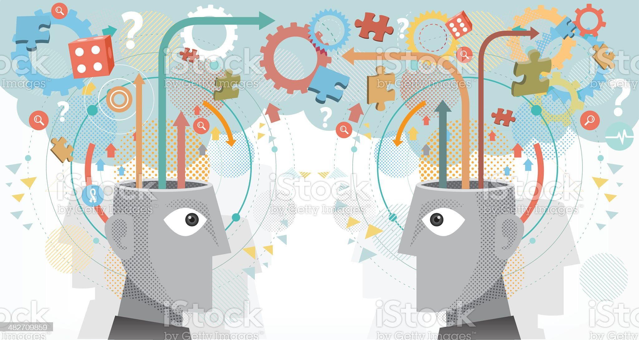 Sharing Ideas royalty-free stock vector art