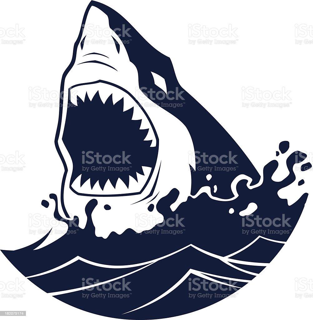 Shark attack vector art illustration