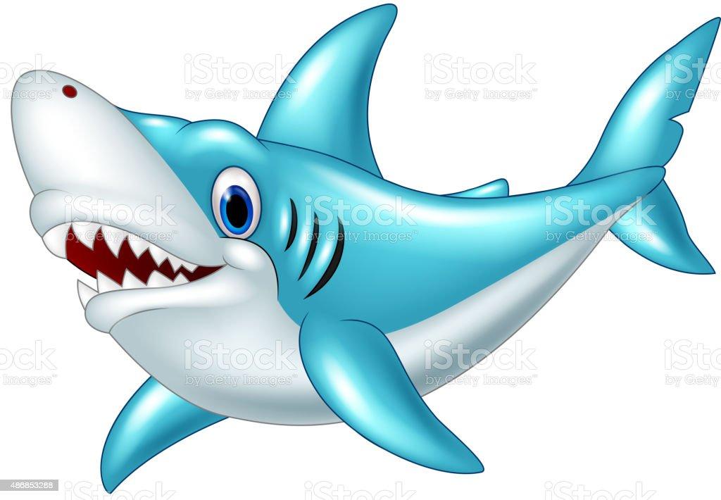 Tiburón Ilustración Dibujo Animado Illustracion Libre De
