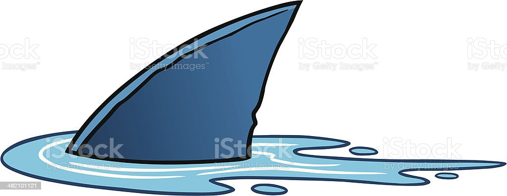 Shark Fin vector art illustration