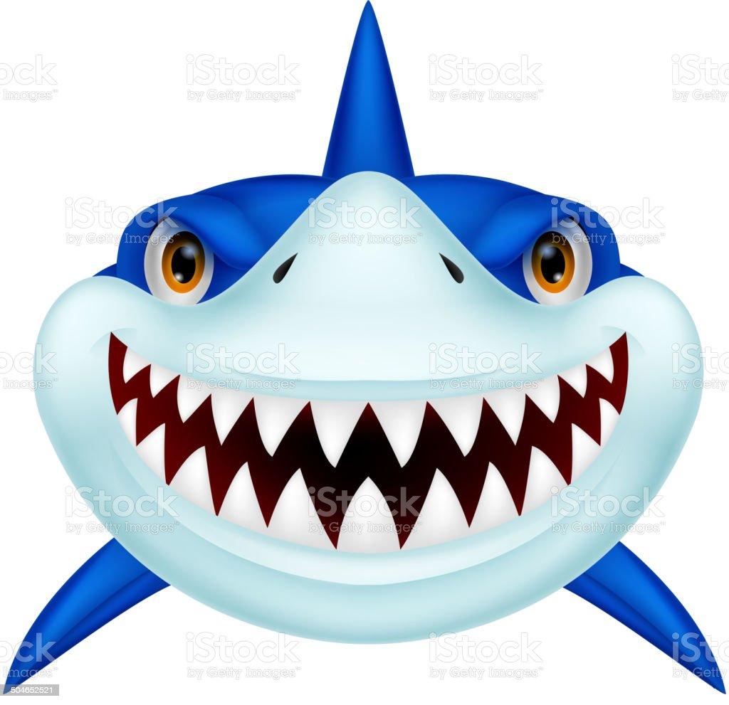 Shark head cartoon vector art illustration