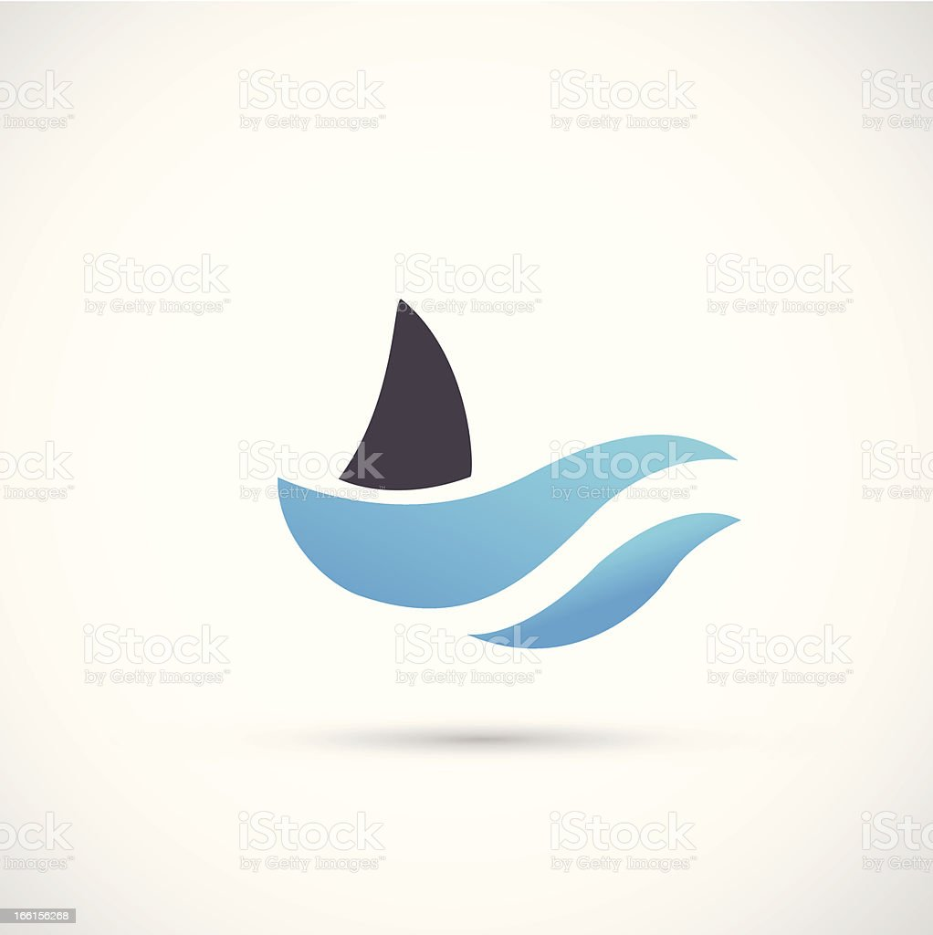 Shark Icon vector art illustration