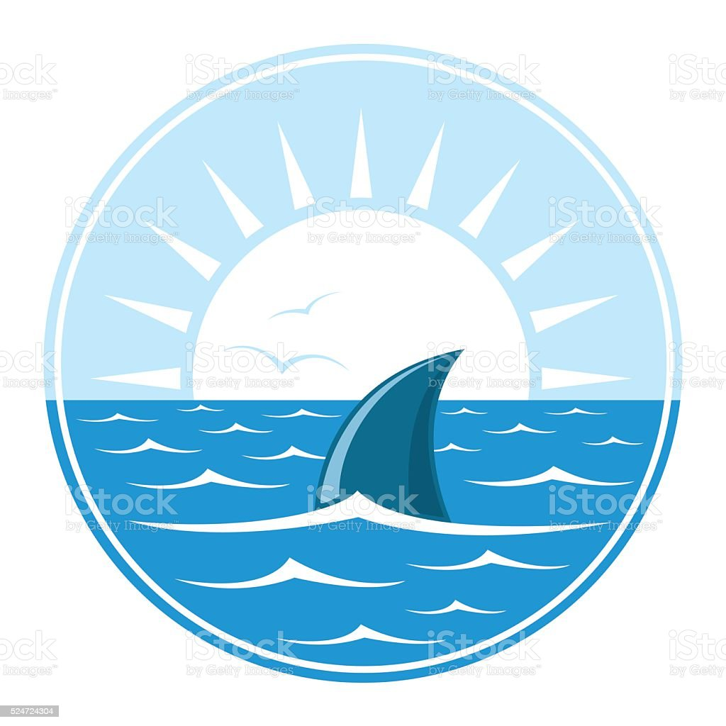 Shark logo illustration vector art illustration