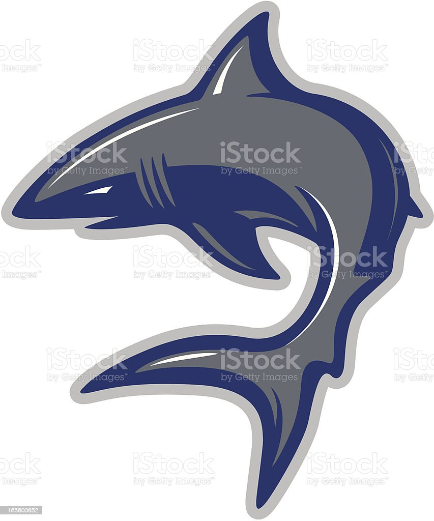 Shark mascot vector art illustration
