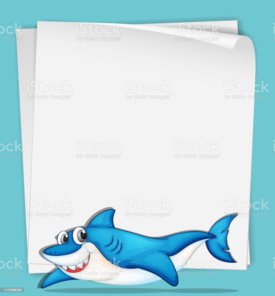 shark paper stock vector art istock shark paper royalty stock vector art