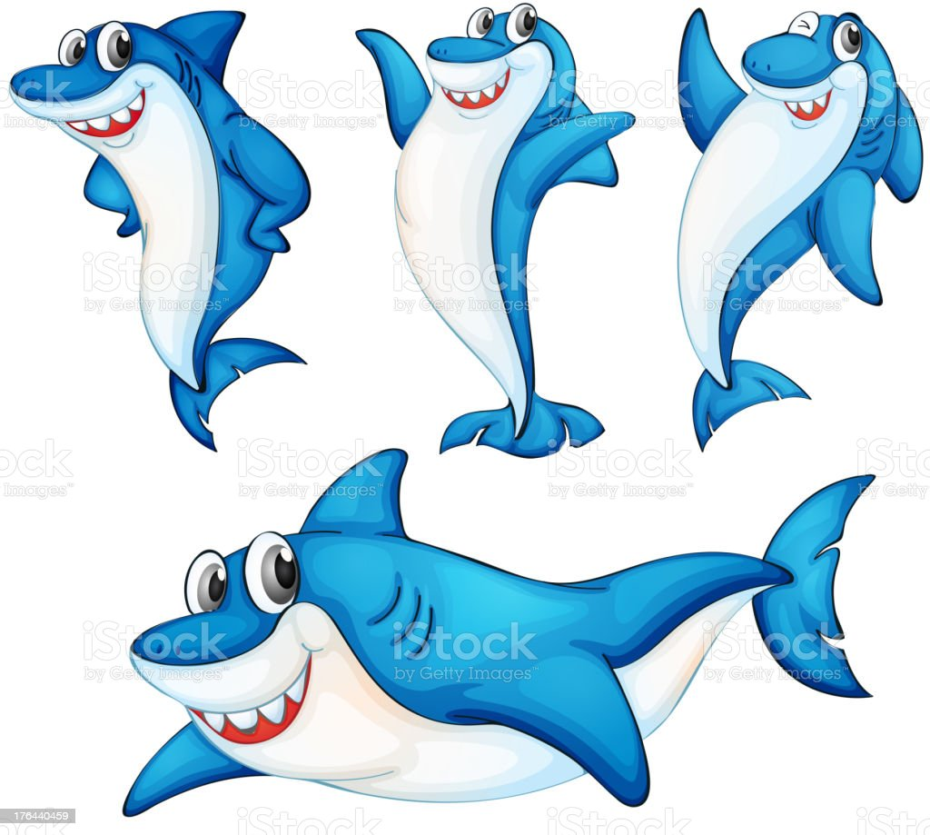 Shark series royalty-free stock vector art