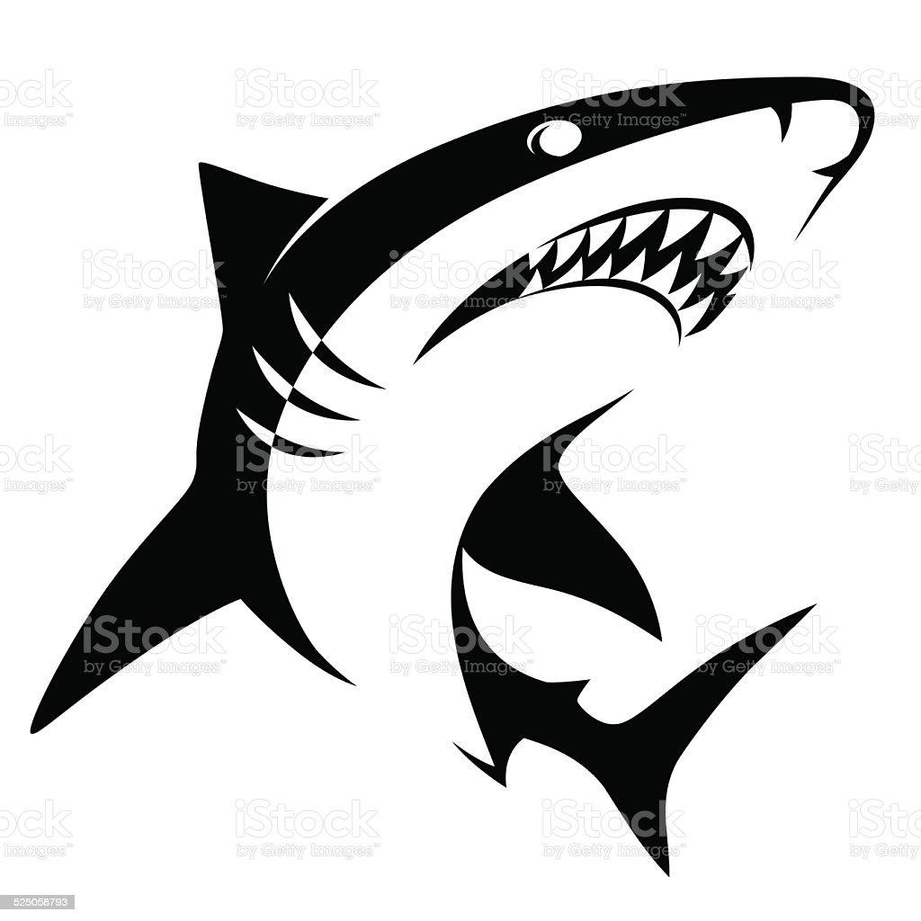 Shark sign vector art illustration