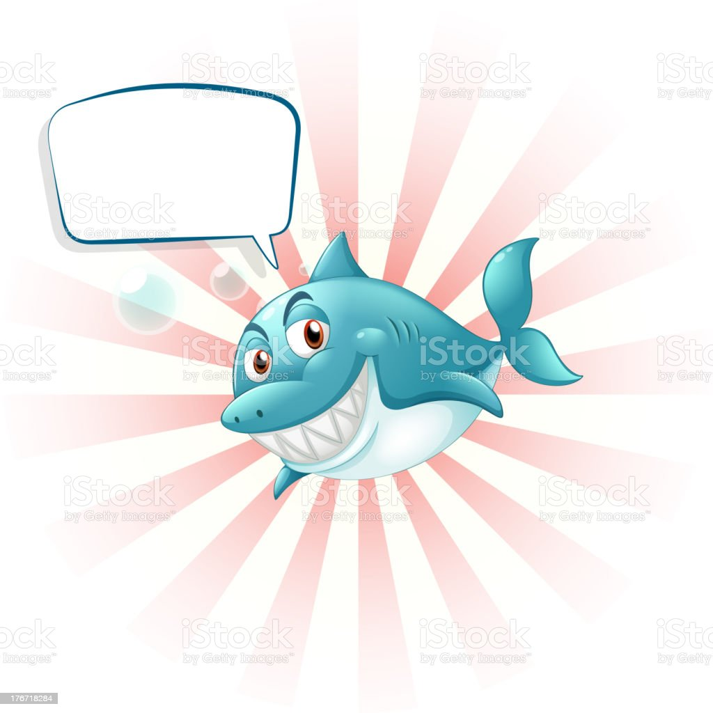 shark with an empty callout royalty-free stock vector art
