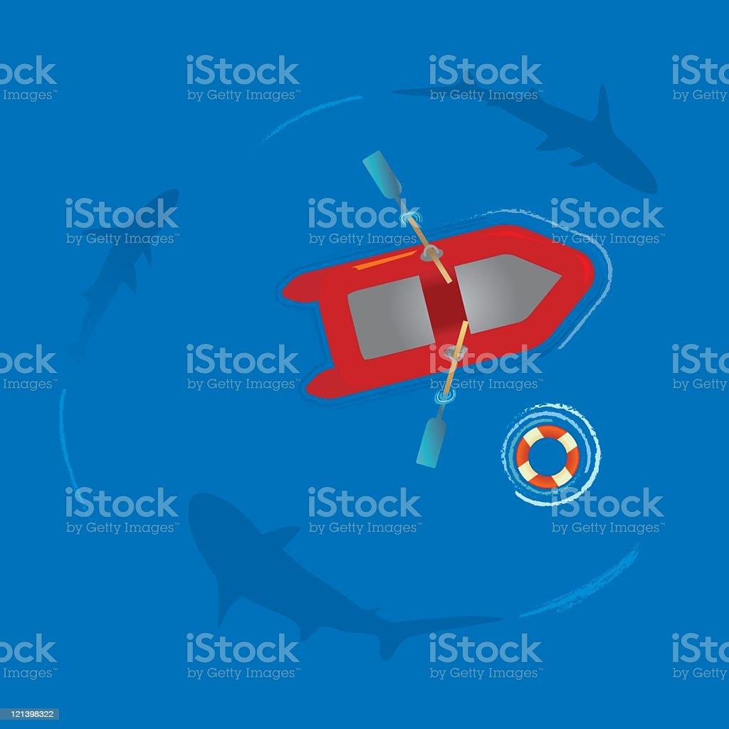 Sharks royalty-free stock vector art