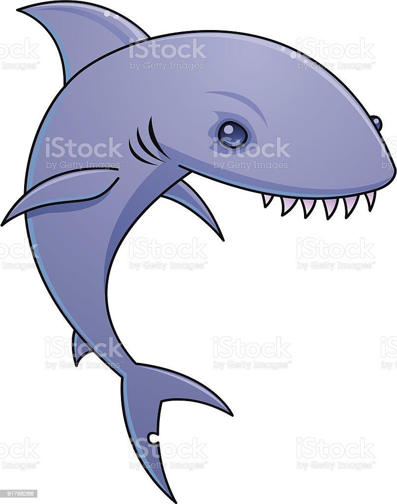 Sharky vector art illustration