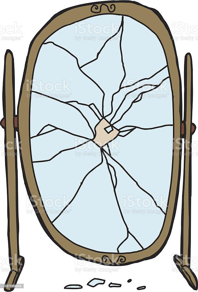 Shattered Mirror vector art illustration