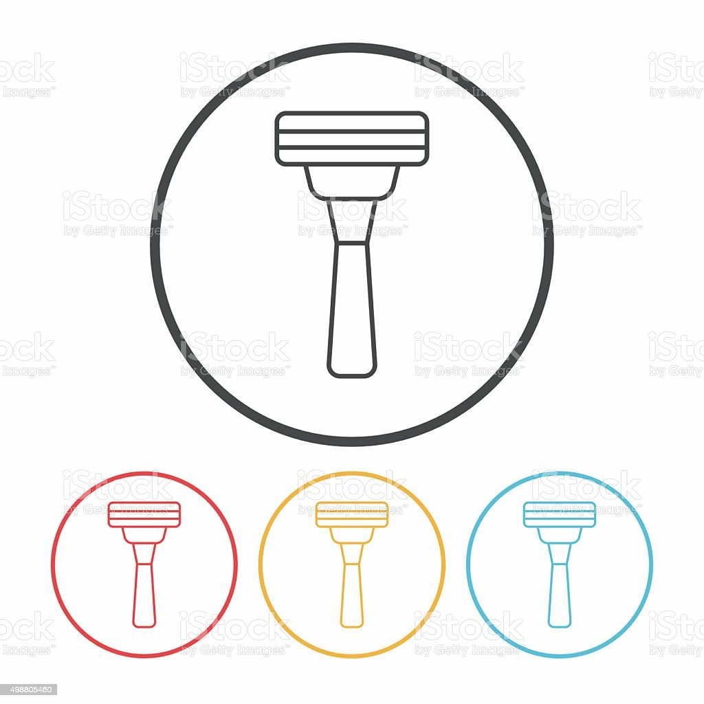 Shavers line icon vector art illustration