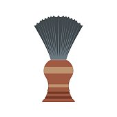 Shaving brush flat icon