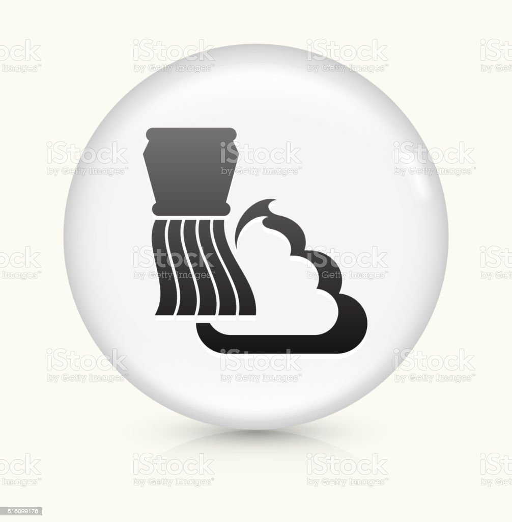 Shaving Cream and Brush icon on white round vector button vector art illustration