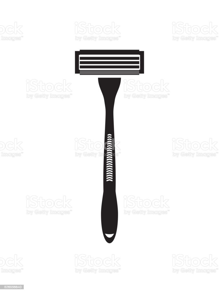 Shaving razor flat vector icon vector art illustration