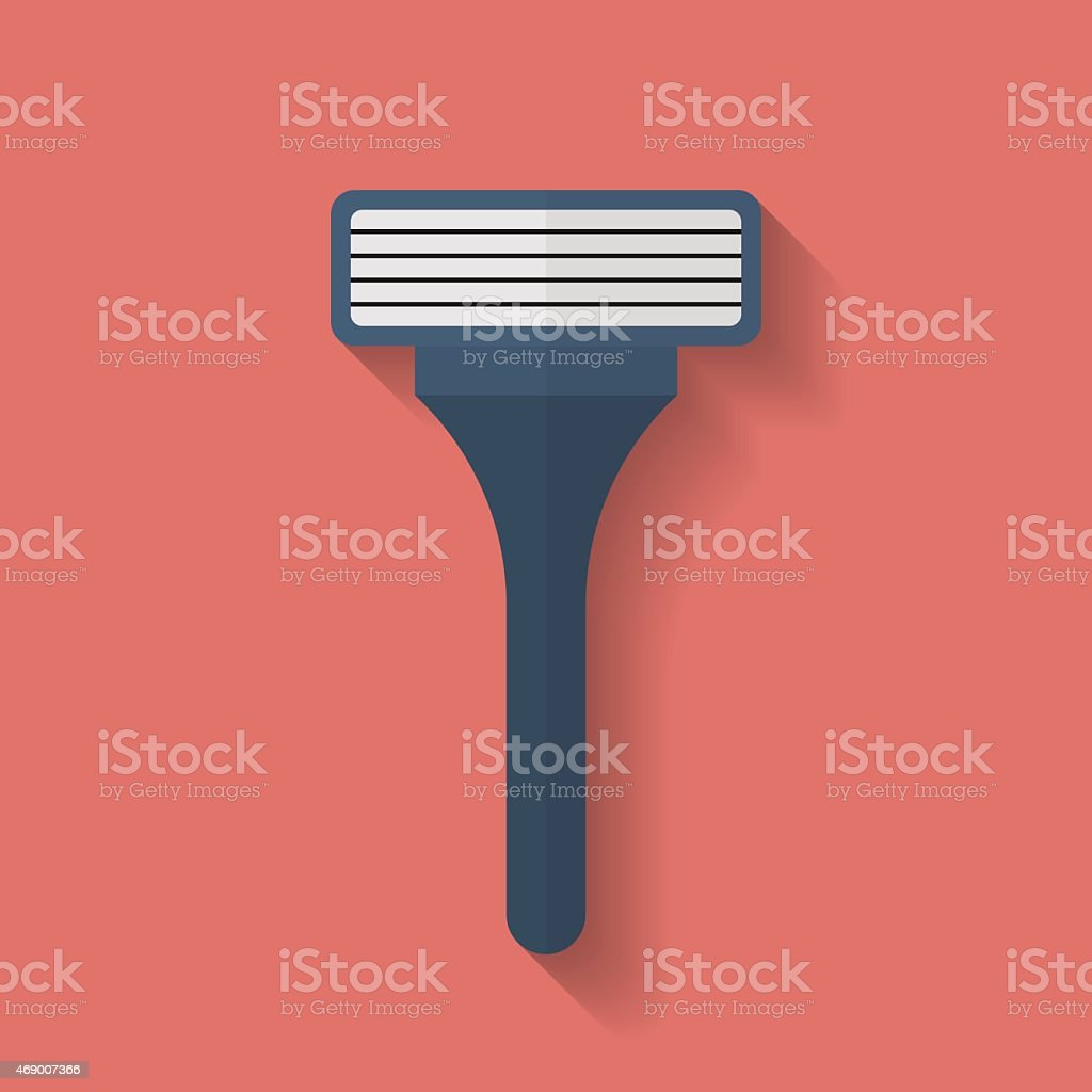 Shaving Razor icon. Flat style vector art illustration