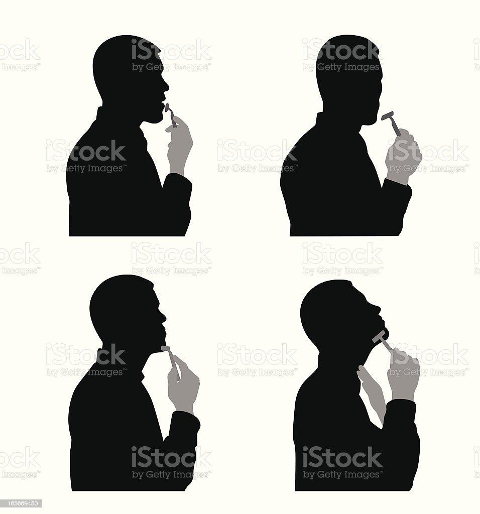 Shaving Vector Silhouette royalty-free stock vector art