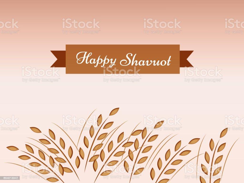 Shavuot Background vector art illustration