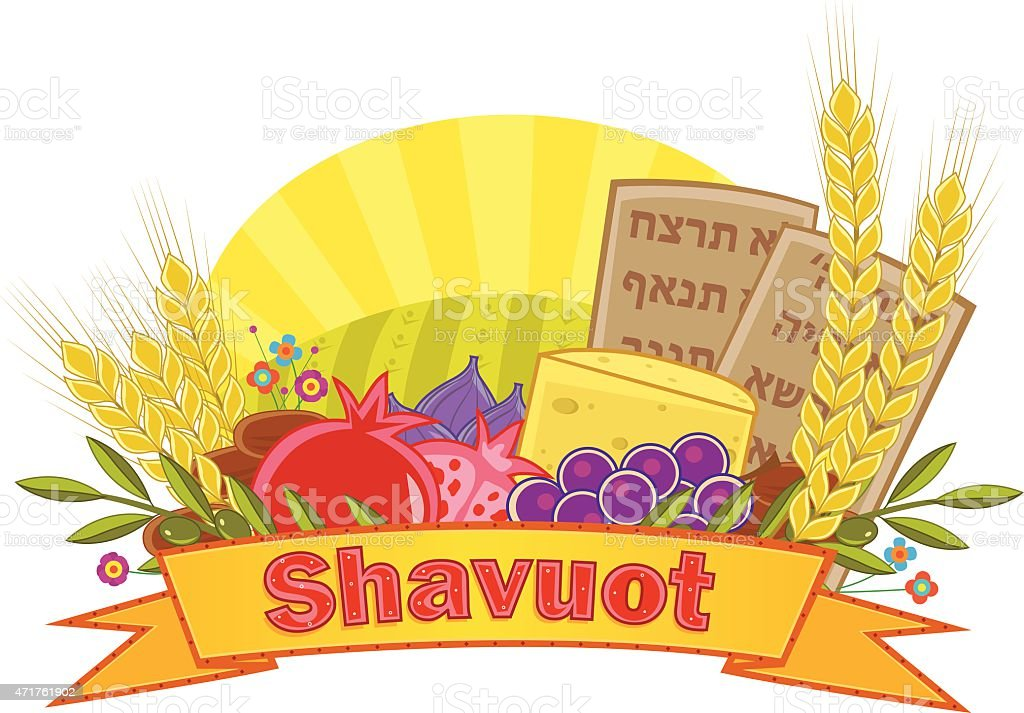 Shavuot Banner With Background vector art illustration