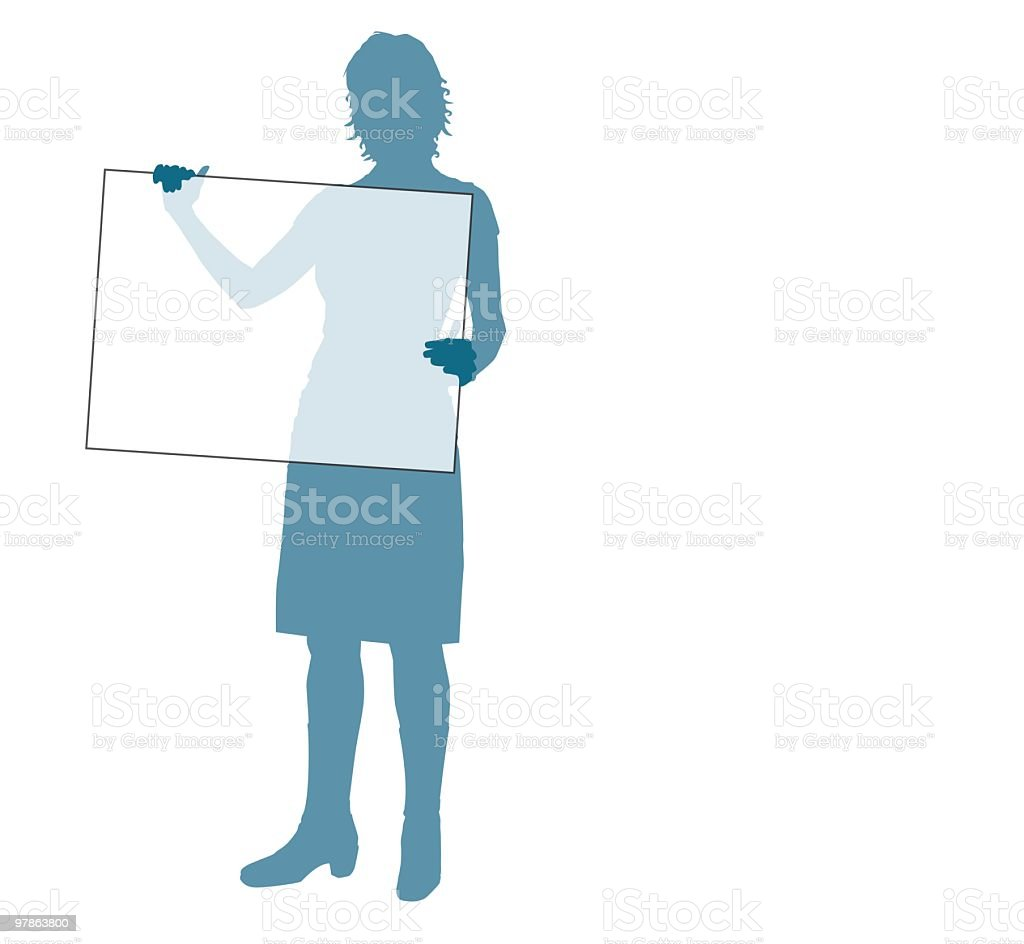 She holds whatever you want royalty-free stock vector art