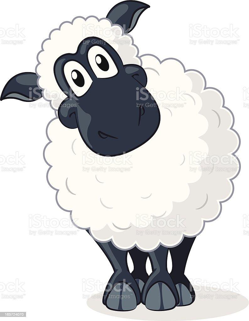 Sheep Cartoon vector art illustration