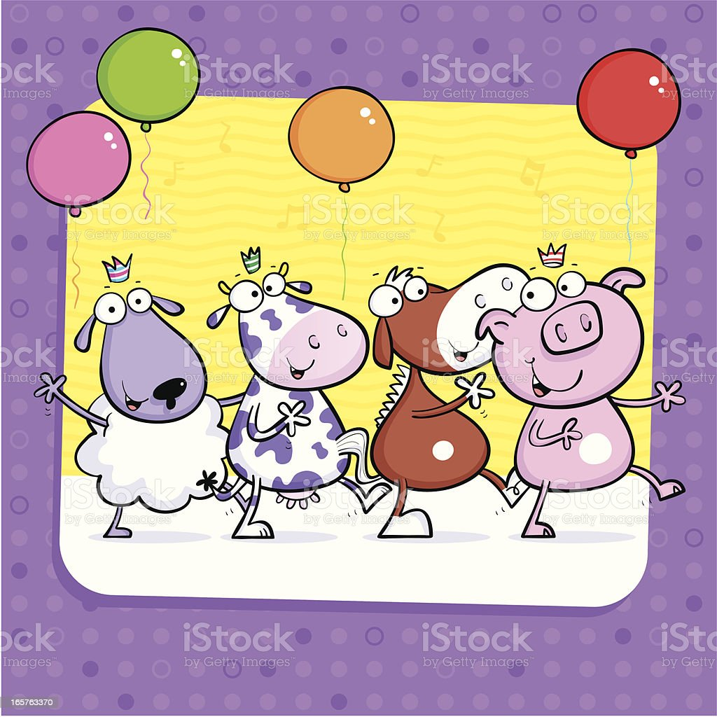 Sheep Cow Horse Pig royalty-free stock vector art